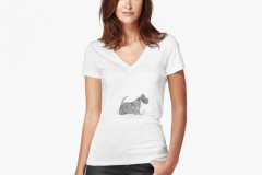 work-75118064-tailliertes-t-shirt-mit-v-ausschnitt