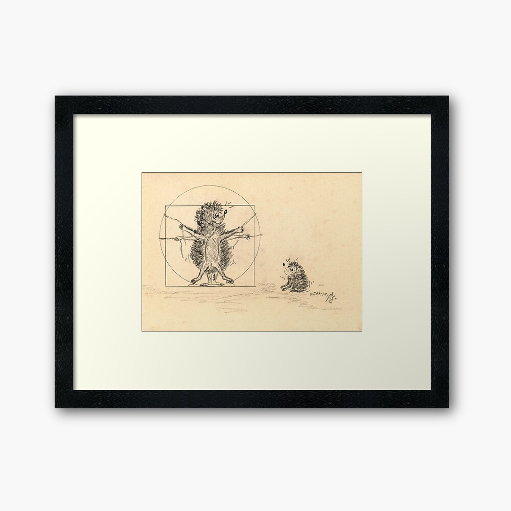 Kunstdruck mit Rahmen
