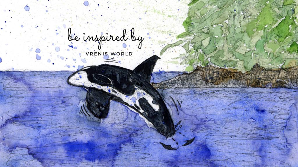 Schwertwal vor Alaska inspired by vrenisworld